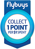 Flybuys collect 1 point per $1 spent