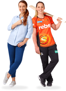 Scorchers player and Karen