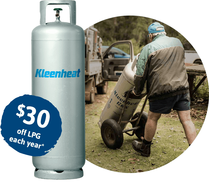 RAC offer: $30 off LPG each year*