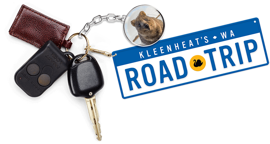 Car keys with Kleenheat Roadtrip keychain